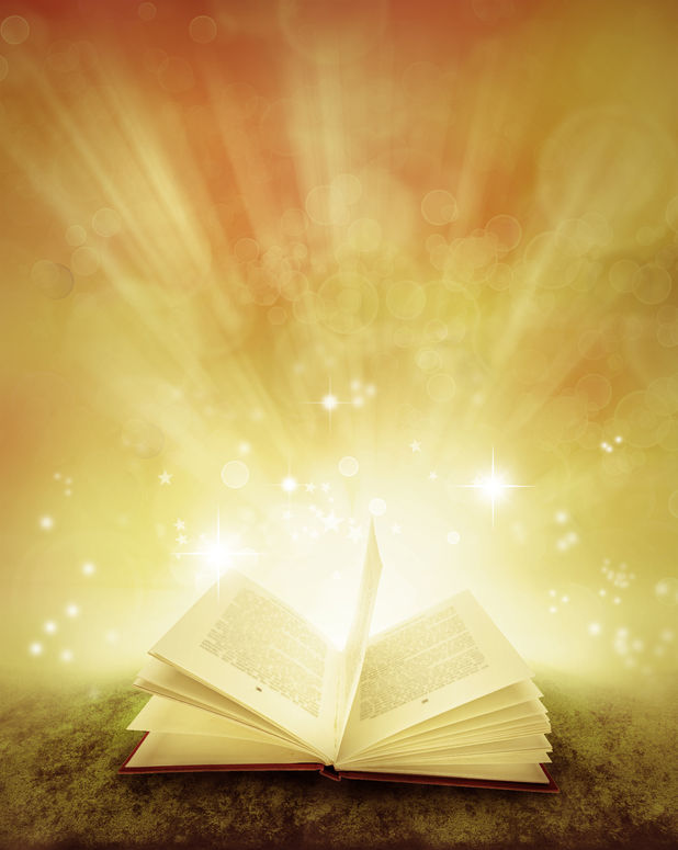 22442646 - open book and magical